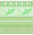 seamless pattern with mint vector image vector image