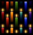 seamless pattern with rainbow burning candles on a vector image vector image