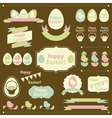 set happy easter ornaments and decorative vector image vector image