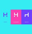 set letter h minimal logo icon design template vector image vector image