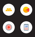 set of commerce icons flat style symbols with pie vector image