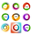 set of loop infinity business icons abstract vector image