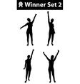Silhouette winner set 2 vector image