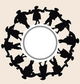 silhouettes of men and women hold hands together vector image vector image