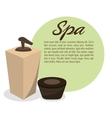 spa treatment cream organic vector image vector image