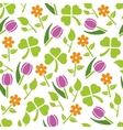 spring plants seamless pattern vector image vector image