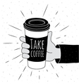 Take coffee vector image vector image