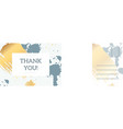 thank you postcard abstract background vector image
