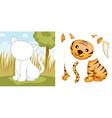 tiger puzzle vector image