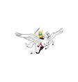 Valkyrie Amazon Warrior Flying Horse Cartoon vector image vector image