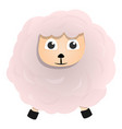 white sheep icon cartoon style vector image