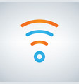 wifi icon flat design style in blue and orange vector image vector image