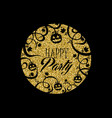 gold glitter halloween party invitation card vector image