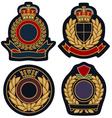royal emblem badge shield vector image