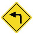 turn left on white background turn left symbol vector image