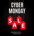 cyber monday sale deals design template vector image