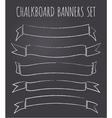 vintage chalkboard style banners collection vector image