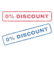 0 percent discount textile stamps vector image vector image