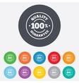 100 quality guarantee icon premium quality