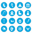 16 christmas icon blue vector image vector image