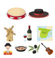 a set of pictures about spain sights of spain vector image
