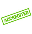 accredited sticker stamp vector image