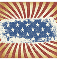 American Themed Flag Background Grunge Aged vector image vector image