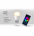 app for smart bulb vector image