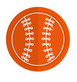 baseball ball equipment isolated icon vector image vector image