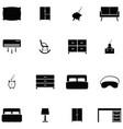 bedroom icon set vector image