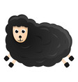 Black sheep icon cartoon style