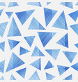 blue triangle seamless pattern vector image vector image