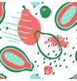 brush grunge papaya seamless pattern vector image vector image
