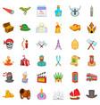 buddha icons set cartoon style vector image vector image