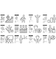 Business line icon set vector image vector image