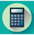 Calculator icon flat style isolated vector image