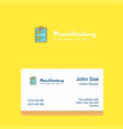 check list logo design with business card vector image vector image
