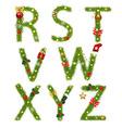 Christmas Alphabet vector image vector image