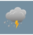 Cloud and lightning vector image