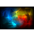 Colorful Abstract crystal background vector image vector image