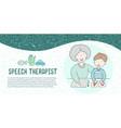 concept presentation speech therapy cute vector image