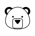 cute bear character icon vector image