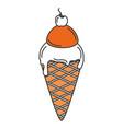 delicious ice cream isolated icon vector image