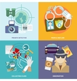Detective icons set flat vector image vector image