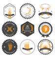 Ears of wheat and rye set labels badges vector image