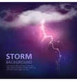 Electric Discharge In Sky Background vector image