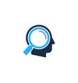 find human head logo icon design vector image
