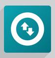 flat 2 side arrow icon vector image vector image