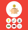 flat icon finance set of payment hand with coin vector image vector image