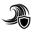 flood protection icon simple black style vector image vector image